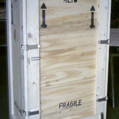 Casse in legno riutilizzabili per fiere